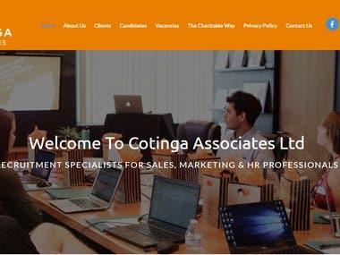 Cotinga Website - www.cotingaassociates.co.uk