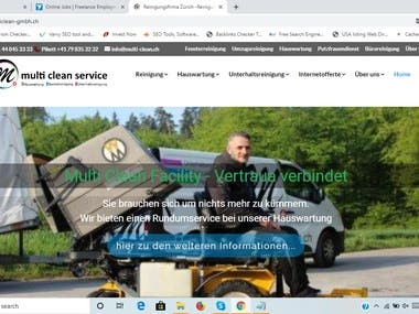 Website design and development for multiclean-gmbh.ch