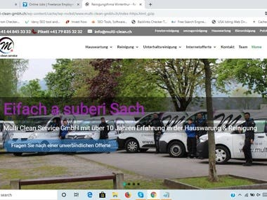 Website design and development for multi-clean-gmbh.ch