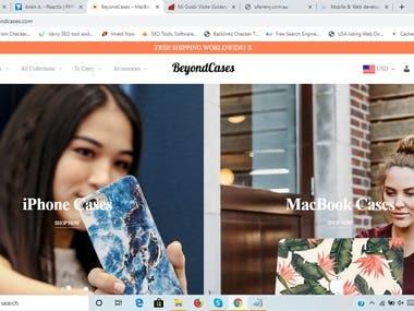 E commerce store https://www.beyondcases.com/