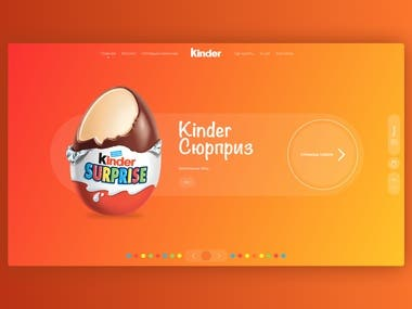 Online Store Concept | Kinder Surprise