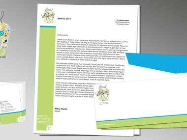 Floral Rhino - Corporate Stationary Pack