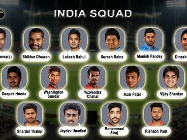 India Squad Design