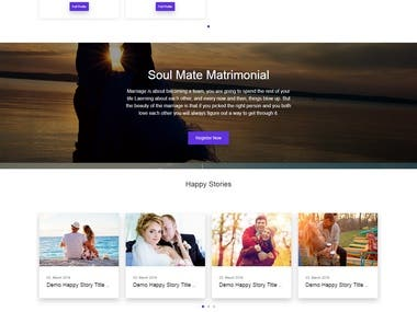 Matrimonial Website Developed in CodeIgnitore