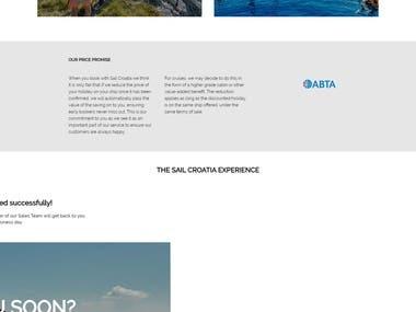 Tourism Website Developed in Wordpress