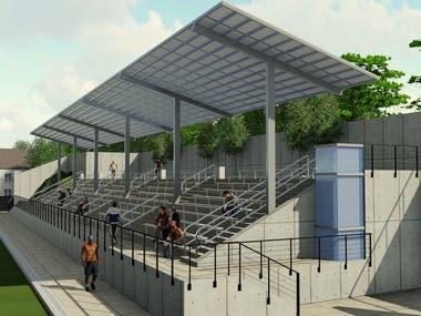 3D modeling of Stadium