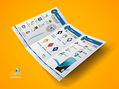 Three Fold Matt Finish Brochures