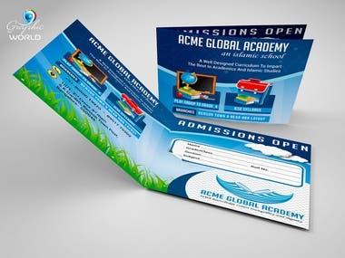 Bi Fold School Promotion Brochure