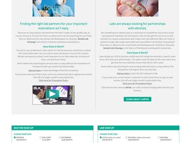Design and developed Dental Lab Website using API