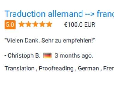 German to French website translation