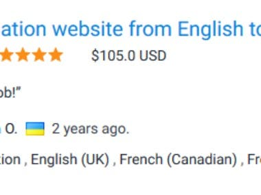 Translation website English to French