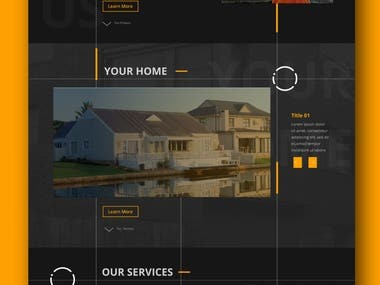 Landing Page for Architect Company
