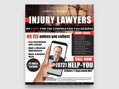 Magazine Advertising for a Law Firm