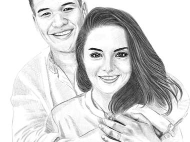 Realistic portraits drawing/painting/sketching