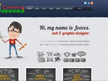 Business Website with PHP and Creative Designs
