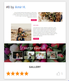 WEB DESIGN FOR WEDDING FLOWER