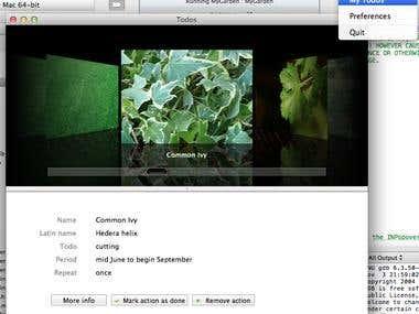 My Garden, Social application on Mac OS x.