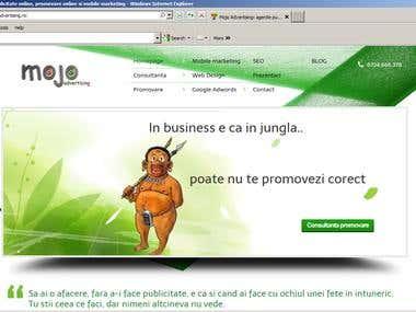 www.mojoadvertising.ro website