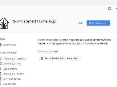 Sumit's Smart Home App-Google Assistant