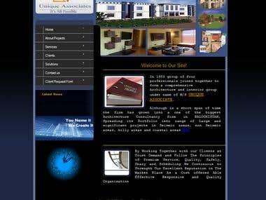 Architect Web Site (UNIQUEASSOCIATE)