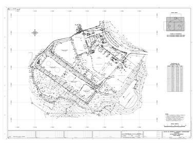 Survey drawing topography