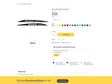 PrestaShop   Product page and megamenu