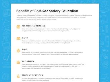 Trade School Website Designing & Development