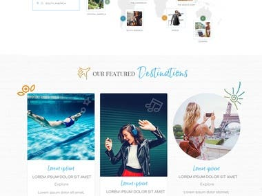 Travel related WordPress website designing & development