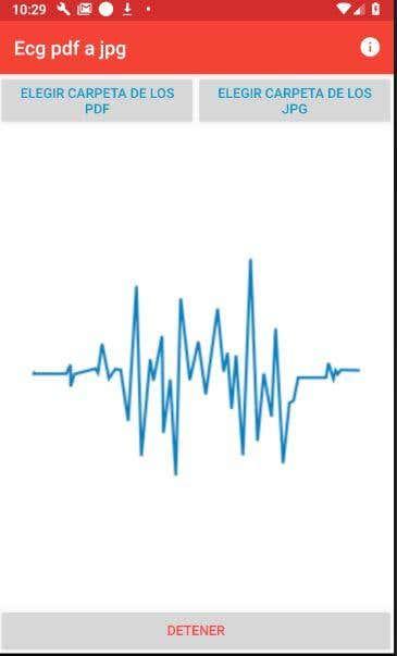 App para convertir el PDF de un cardiograma en JPG