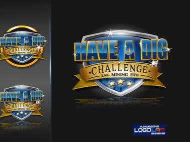 Have a dig challenge logo concept
