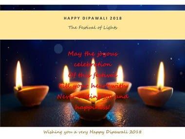 Greeting Card - Diwali - Client