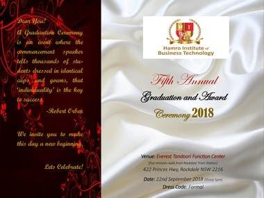Invitation - Graduation Ceremony