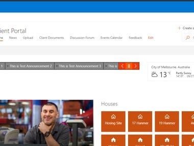 Intranet Portal for an Australian client