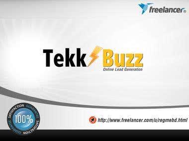 "Logo for ""Tekk Buzz"""