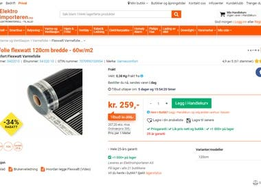 Scraping website elektroimportoren.no