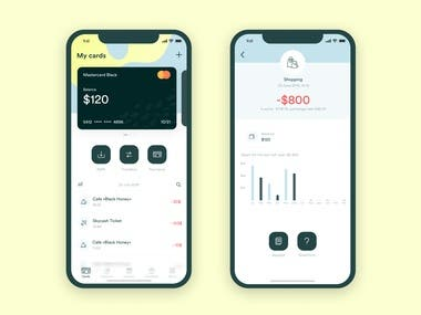 Mobile bank for fintech company
