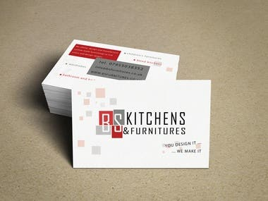 Business Card Design for BS Kitchens