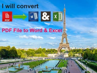 Convert PDF File to Word & Excel