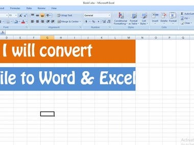 Data Entry, MS Word, MS Excel, PDF to Word, PDF to Excel, Se