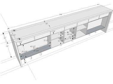 Cabinet sketch for carpenter