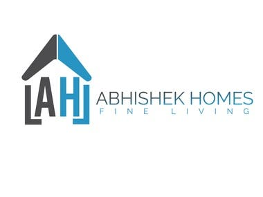 Abhishek Homes Logo Design