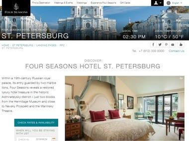 Hotel website in St. Petersburg