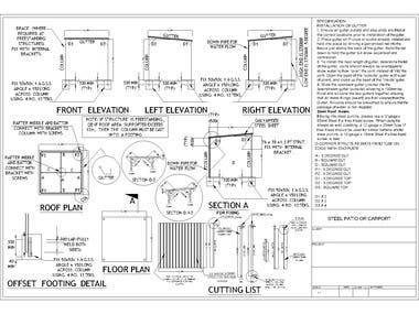 Carport and Patio Design and Drawings