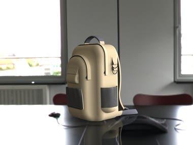 A rugged backpack