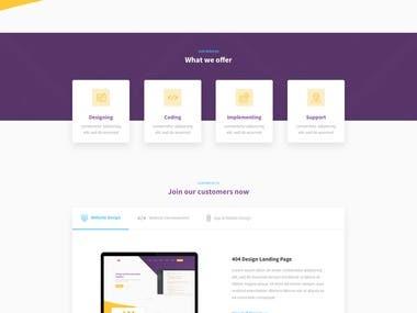 Web Services Co. Landing Page