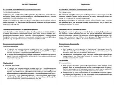 Translation of Contract Supplements