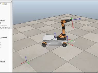 mobile robot with 5 DOF robotics Arm