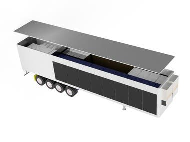 3D Trailer Render for On-Site Powering Operations