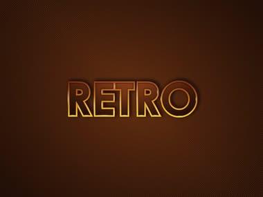 desain lettering retro