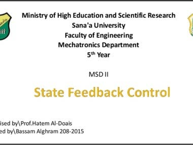 lecture in state-space feedback control